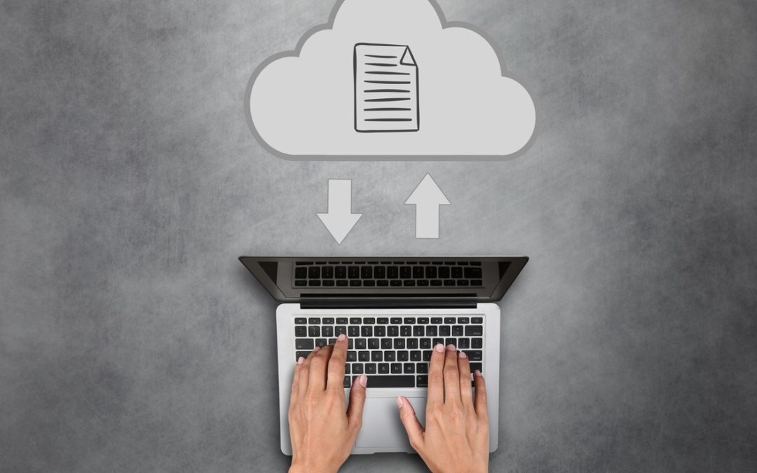 data exchange from the cloud to a laptop